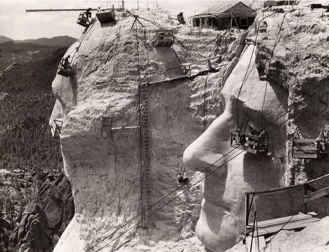 Mt. Rushmore Construction Picture