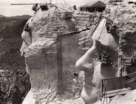 Mt. Rushmore Construction Picture