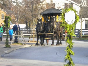 This is a horse drawn carriage that I saw.