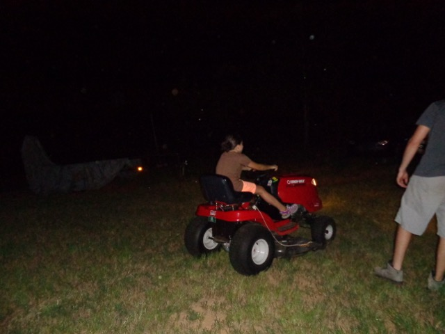 We got to drive the lawn mower