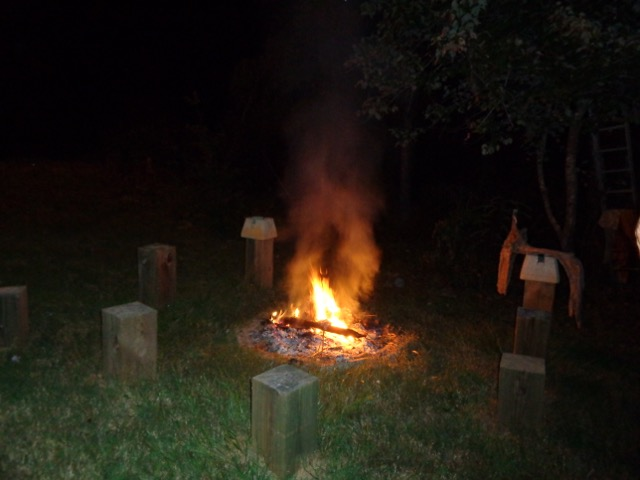 And bonfire after,