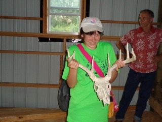 Uncle Rob found a deer scull and I got to hold it!