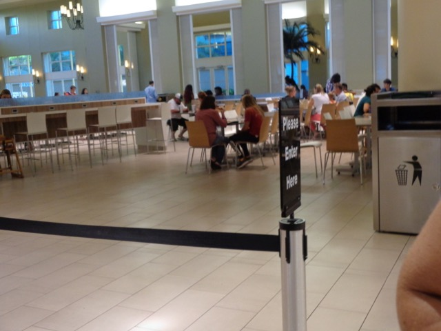 Inside the food court...