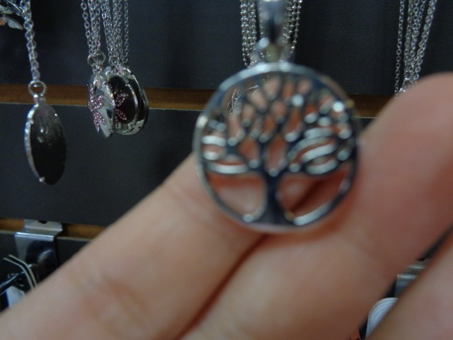 I found this necklace well we were shopping. I think it looks like the tree of Gondor from LotR. (Lord of the Rings)