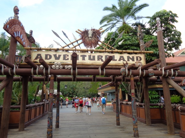 The sign for Adventureland.
