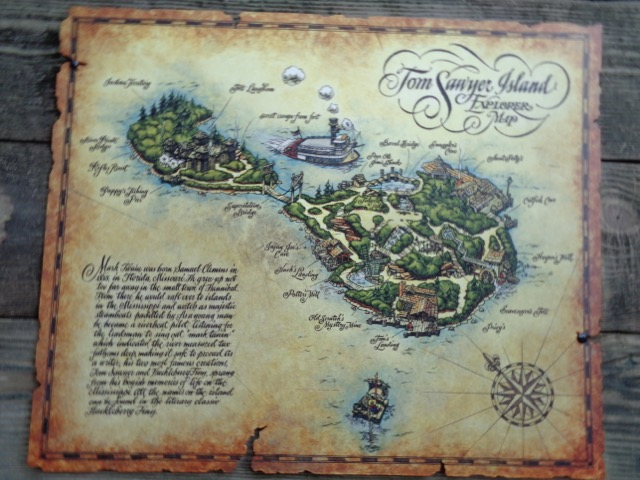 Map of Tom Sawer island.