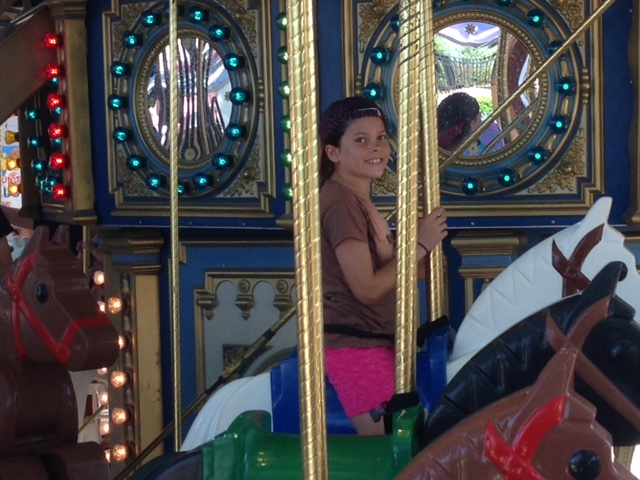 Double decor carousel.