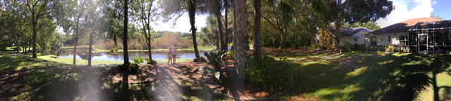Dad took a panorama of GUB's yard.