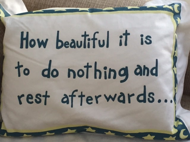 I like this pillow i found at GUBs.
