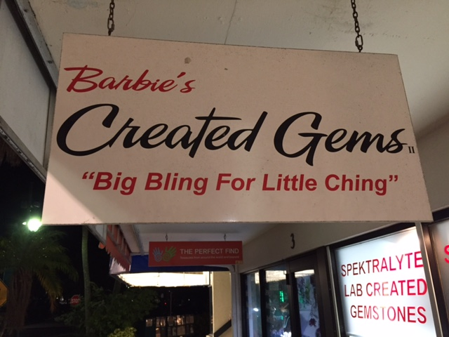"Dad thought this was a cool slogan ""bIg bling for little ching"""