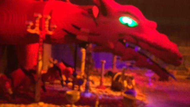 A dragon. In the dragon ride.