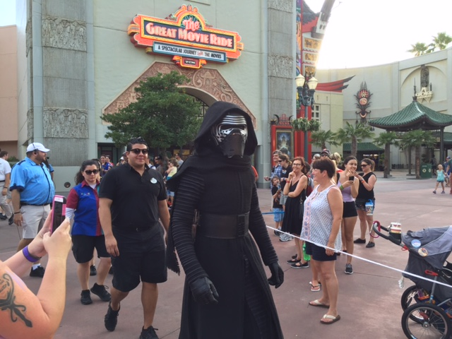 Kylo Ren coming out for a show.