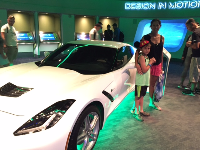 There were some cool cars at Test Track!