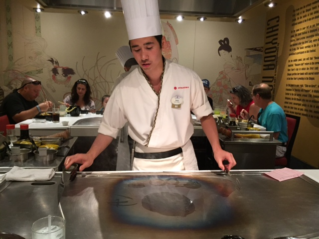 We ate dinner in a Japanese restaurant in Japan - it was delicious!