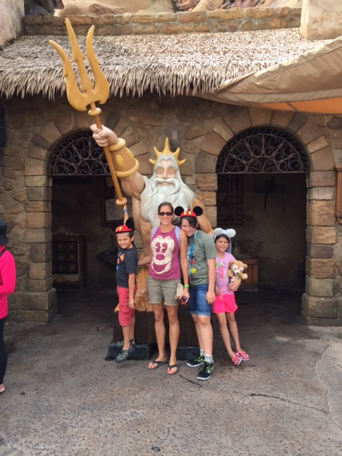 Picture with King Triton.