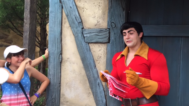 We did a character meet and greet with Gaston. he was hilarious!