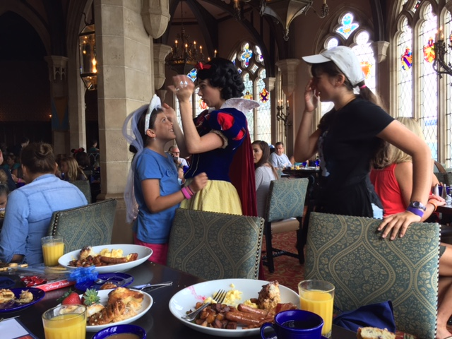 Breakfast at Cinderella's royal table.