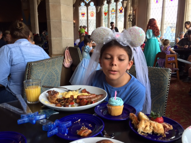 Brynn's B-day was before we left for vacation and we choose to do her birthday dinner at Disney.