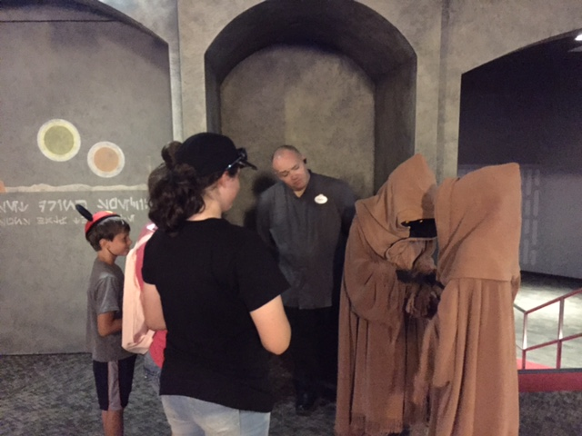 The Jawa's were a little shy.