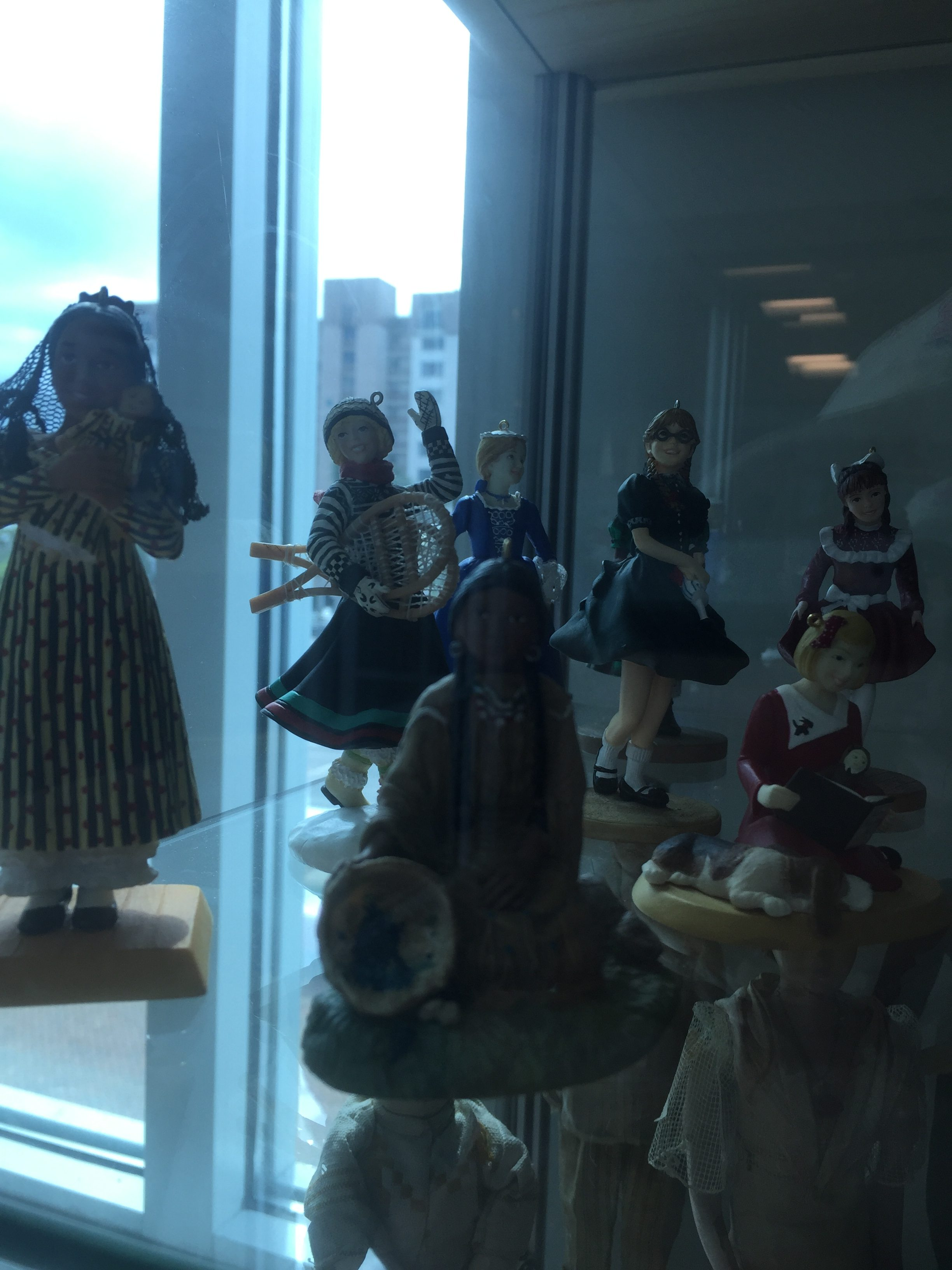 Sorry for the poor image quality. There were also these doll ornaments.