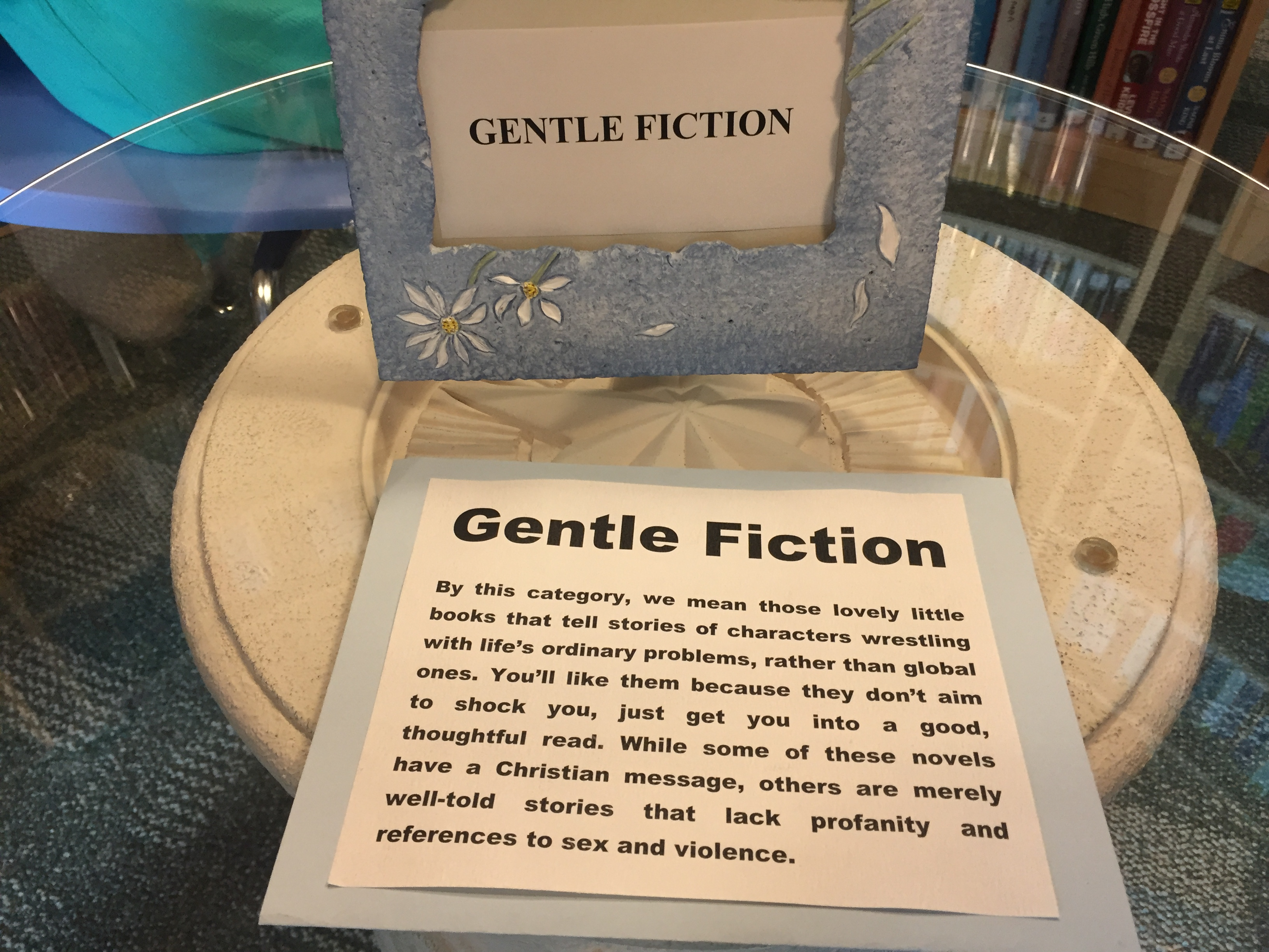 I totally wish all libraries had a section like this. It's a great idea.