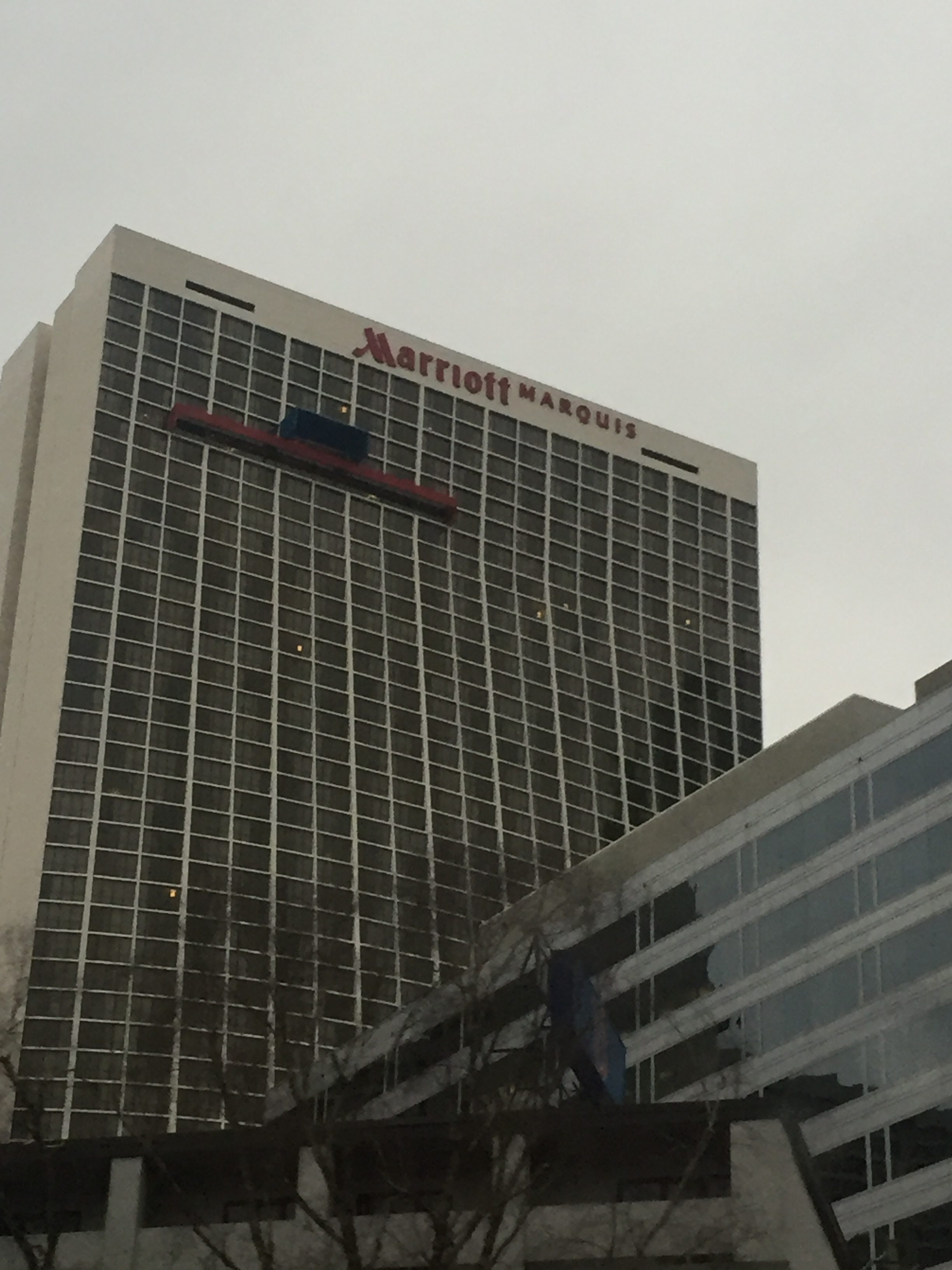 I thought this Marriott hotel building was pretty cool.
