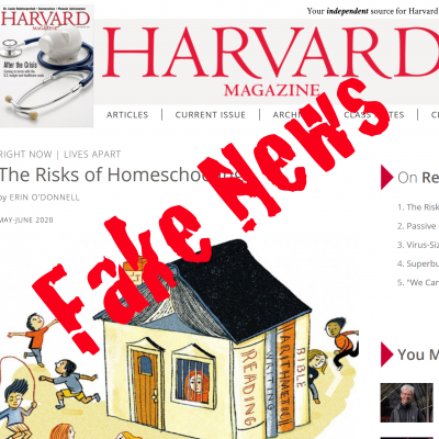 A Homeschooler's Response to Harvard's Unresearched Anti-Homeschool Article